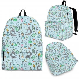 Science Equipment Pattern Backpack