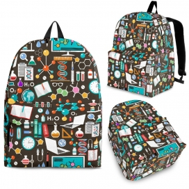 Science Pattern Backpack