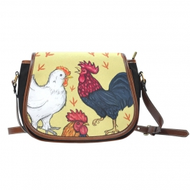 Art Chicken Saddle Bag