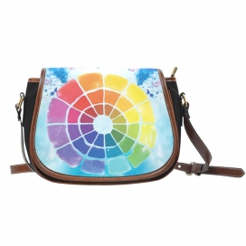 Color Wheel Saddle Bag